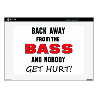 Back away from the bass and nobody get hurt! laptop skins