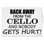 Back Away From The Cello Cards