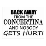 Back Away From The Concertina Postcard