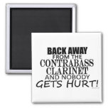 Back Away From The Contrabass Clarinet Refrigerator Magnets