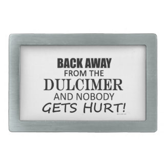 Back Away From The Dulcimer Belt Buckle