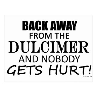 Back Away From The Dulcimer Postcard