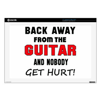 Back away from the guitar and nobody get hurt! laptop skin