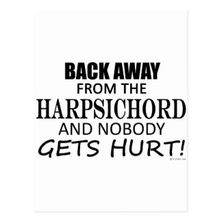 Back Away From The Harpsichord Postcard