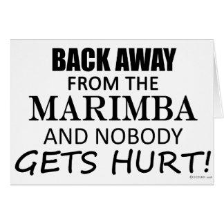 Back Away From The Marimba Card