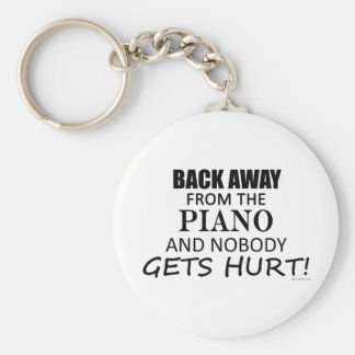 Back Away From The Piano Basic Round Button Keychain
