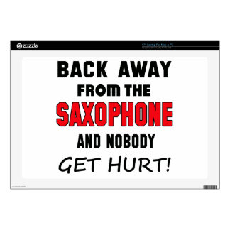Back away from the Saxophone and nobody get hurt! Decal For Laptop