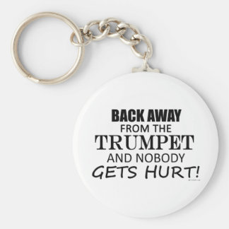 Back Away From The Trumpet Keychain