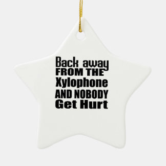 Back away from the Xylophone and nobody get hurt Double-Sided Star Ceramic Christmas Ornament