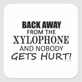 Back Away From The Xylophone Square Sticker