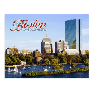 Back Bay Skyline from the Charles River, Boston Postcard