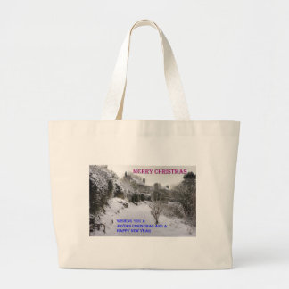 Back Braes in the Snow Large Tote Bag