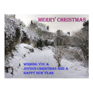 Back Braes in the Snow Post Cards
