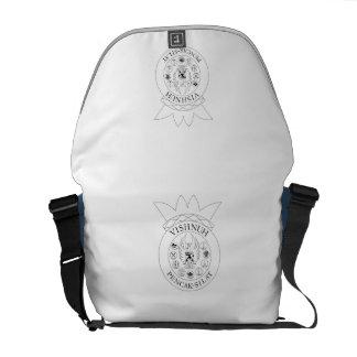 back case with vishnuh logo messenger bag