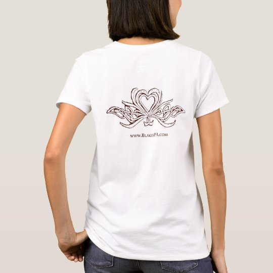 Back Celtic Knots and Hearts Outline Logo Tee