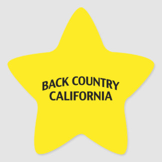 Back Country California Star Sticker