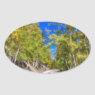 Back Country Road Take Me Home Colorado Oval Sticker