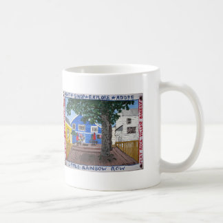 Back Deck of Little Rainbow Row in Flat Rock NC Coffee Mug
