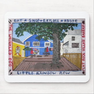 Back Deck of Little Rainbow Row in Flat Rock NC Mouse Pad