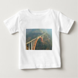Back Design - Bridges, Forest n Green Layers Baby T-Shirt