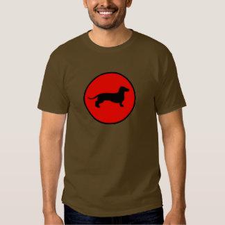 back doxie circle tee shirt
