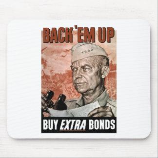 Back 'Em Up -- General Eisenhower Mouse Pads