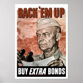 Back 'Em Up -- General Eisenhower Poster