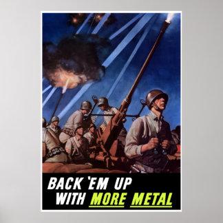 Back 'Em Up With More Metal -- Border Poster