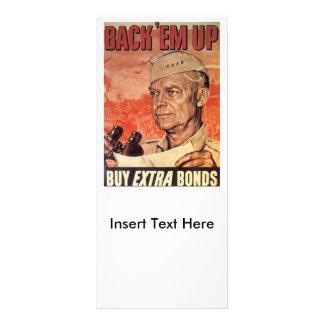 Back 'Em Up World War 2 Custom Rack Card
