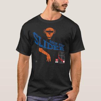 Back Foot Slider : Orange + Blue T-Shirt