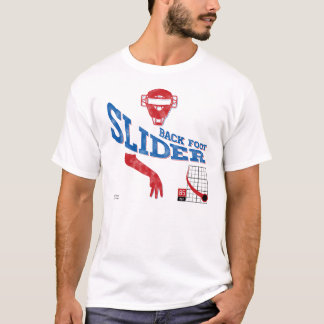 Back Foot Slider : Red + Blue T-Shirt