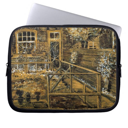 Back Garden of Sien's Mother's House, the Hague Laptop Sleeves