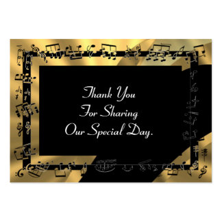 Back gold wedding favor thank you tag business card templates