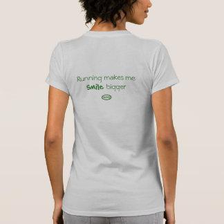 Back-Green: Running makes me smile bigger Shirts