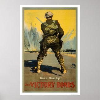 Back him up!  Buy Victory Bonds Poster