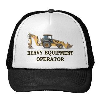 BACK HOE LOADER TRUCKER HAT