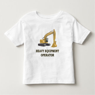 BACK HOE TODDLER T-SHIRT