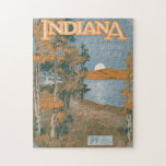 "Back Home Again In Indiana Jigsaw Puzzle<br><div class=""desc"">High quality scan of vintage sheet music for ""Back Home Again In Indiana, "" the unofficial song of the Hoosier State,  played at every Indy 500. A beautiful image of the Indiana countryside.</div>"