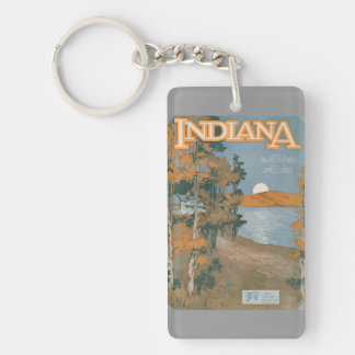 Back Home Again In Indiana Acrylic Keychain