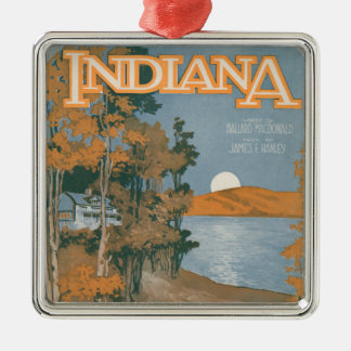 Back Home Again In Indiana Metal Ornament
