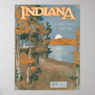 Back Home Again In Indiana Print