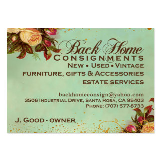 Back Home Consignments Business Card