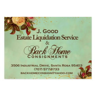Back Home Consignments Custom Business Card