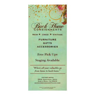 Back Home Consignments Custom Rack Cards