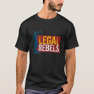 Back in Black: Legal Rebels Lady Justice T T-Shirt