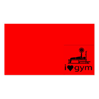 BACK IN BLACK RED I LOVE THE GYM WORKOUT WEIGHTLIF BUSINESS CARD