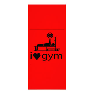 BACK IN BLACK RED I LOVE THE GYM WORKOUT WEIGHTLIF RACK CARD