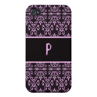 Back In Pink and Black Cover For iPhone 4