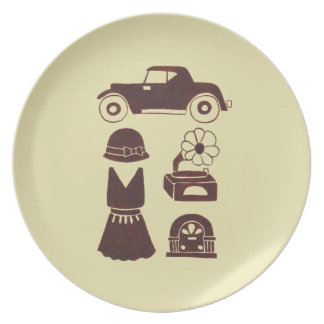 Back in the 20's dinner plate