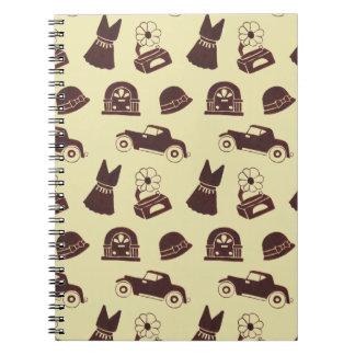 Back in the 20's Pattern Spiral Note Book